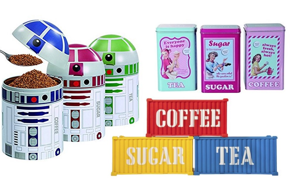 Top 10 Unusual Tea, Coffee And Sugar Kitchen Storage Container Jars