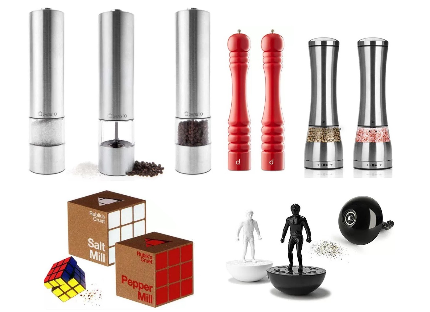 Top 10 amazing novelty and unusual salt pepper mill grinders - Novelty pepper grinder ...